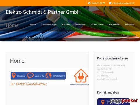 Elekro Schmidt & Partner GmbH | Ihr Elektroinstallateur