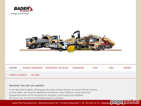 Bader Paul Transporte AG