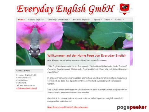 Everyday English GmbH in Dälikon, Zürich - Anbieter von Englischkursen