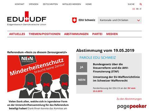 EDU - Eidgenössische-Demokratische Union