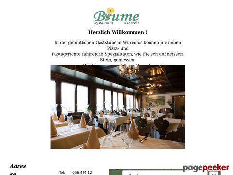 Restaurant Pizzeria Blume - Würenlos