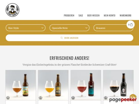 Swiss regional craftbeer - craftbrew.ch