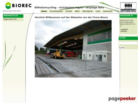 Biorec - Altholzrecycling