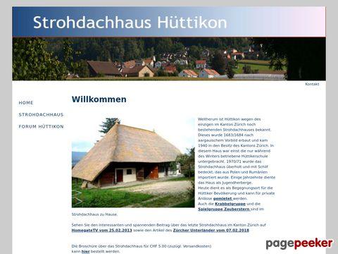 Strohdachhaus - Forum Hüttikon