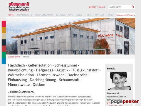 Süssmann AG - Der Spezialist für Schallisolationen/Schallschutz, Wärmeisolation und Bauabdichtungen