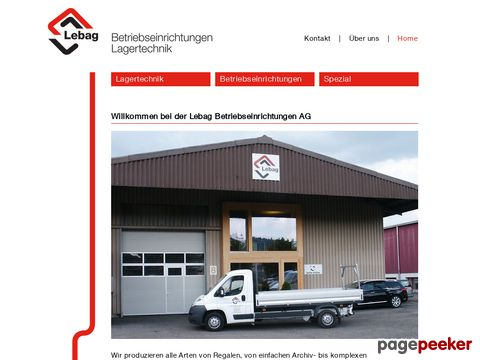 Lebag AG - Betriebseinrichtungen & Lagertechnik