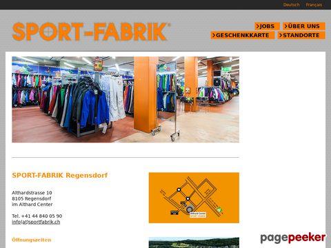 Sport-Fabrik (Regensdorf, Volketswil, Sion)
