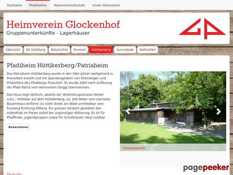 Heimverein Glockenhof: Pfadiheim Hüttikerberg