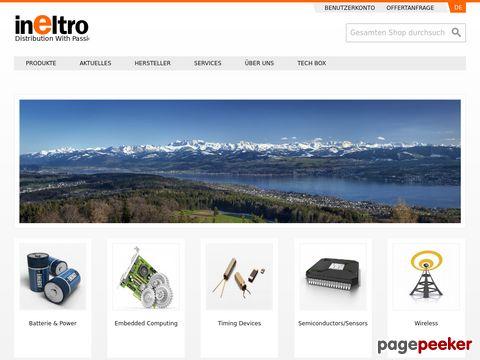 Ineltro AG -  Handelsfirma für elektronische und elektromechanische Komponenten und Industrie-Comp.