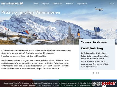 BSF Swissphoto - 3D-Mapping, Ingenieurvermessung und Consulting