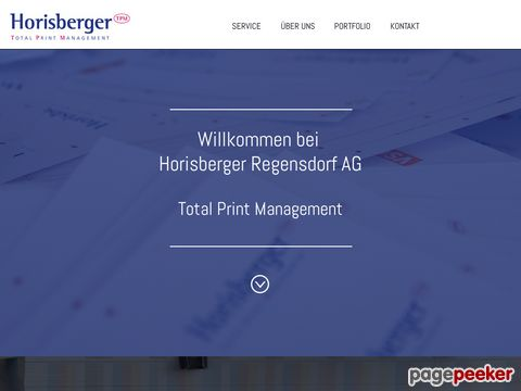 Horisberger AG, Total Print Management, Druckerei, Offset Druck, Digital Druck, Grafik, Satz