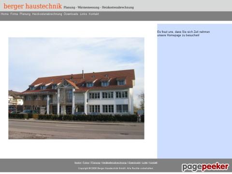 Berger Haustechnik - Planung - Wärmemessung - Heizkostenabrechnung