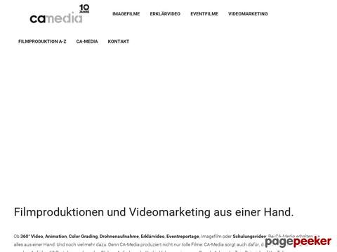 CA-Media in - Filmproduktionen und Videomarketing aus einer Hand.