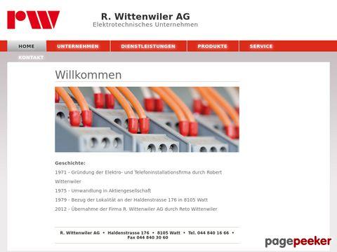 R. Wittenwiler AG - Elektrotechnisches Unternehmen