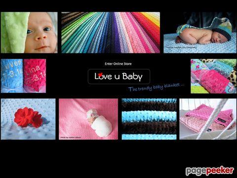 Love u Baby - Babydecken, -Kissen, -Bälle, Diverses