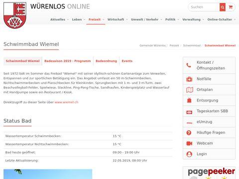 Gemeinde Würenlos: Schwimmbad Wiemel