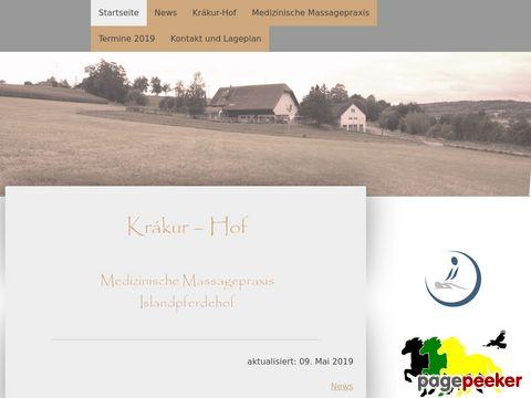 Krákur-Hof: Medizinische Massagepraxis, Reittherapie Betrieb Und Islandpferdehof