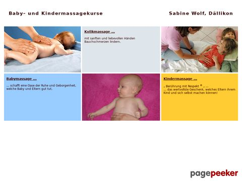 Babymassage Kindermassagekurse - Sabine Wolf Dällikon