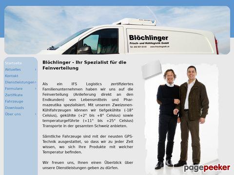 frischlogistik.ch - Blöchlinger, Frisch- und Kühllogistik GmbH