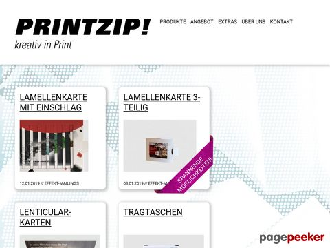 Kreativ in Print - Printzip.ch