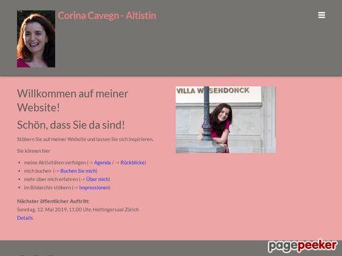 Corina Cavegn - Gesang von Operette bis Jazz