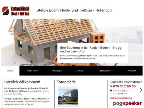 Stefan Bächli Hoch- und Tiefbau - Würenlos