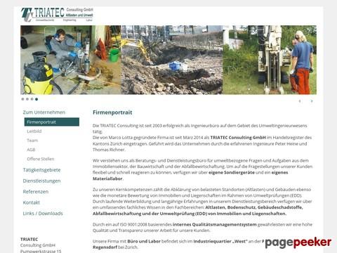 Triatec - Abklärung von belasteten Standorten (Altlasten) und Gebäuden