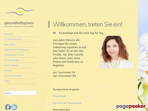 Gesundheitspraxis Katharina Canziani-Markwalder